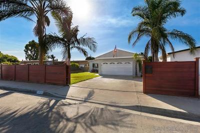 San Diego County Single Family Home For Sale: 962 Granger St