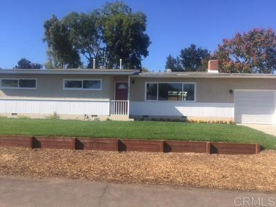 Escondido Single Family Home For Sale: 638 Ray St
