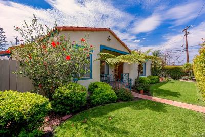San Diego Single Family Home For Sale: 5096 Mansfield Street
