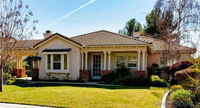 Fallbrook CA Single Family Home For Sale: $618,000