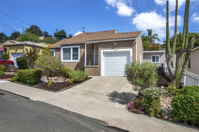 San Diego Single Family Home For Sale: 4121 60th St