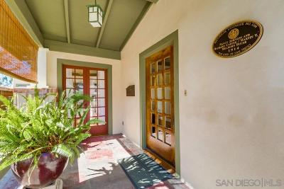 San Diego Single Family Home For Sale: 3916 Alameda Place