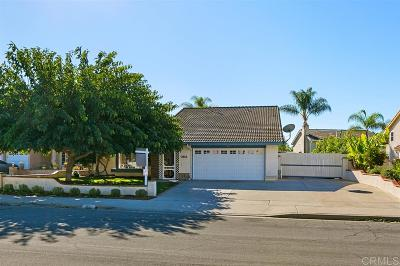 San Diego County Single Family Home For Sale: 3865 Carnegie Dr