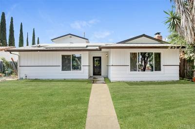 Escondido Single Family Home For Sale: 1610 E Washington Ave