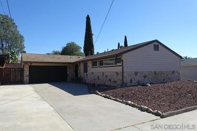 San Diego Single Family Home For Sale: 7033 Ballinger Ave
