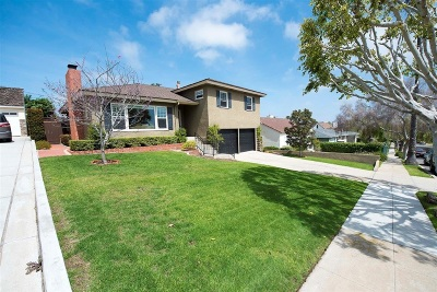 San Diego Single Family Home For Sale: 3944 Bernice Dr.
