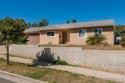 Santee Single Family Home For Sale: 9524 Abbeyfield Rd