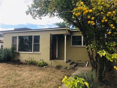 Pacific Beach Rental For Rent: 4464 Figueroa Blvd