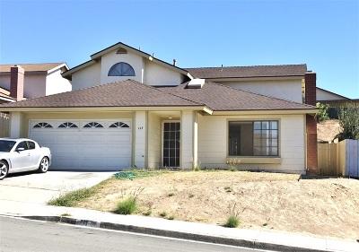 San Diego Single Family Home For Sale: 143 Sumatra Lane
