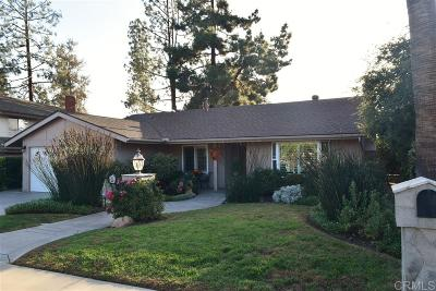 Escondido Single Family Home For Sale: 1731 David Dr.