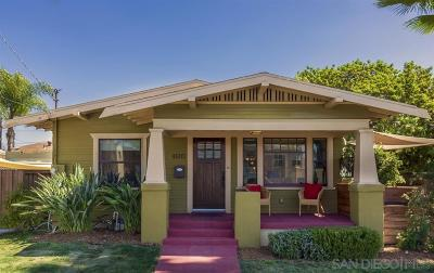 San Diego Single Family Home For Sale: 4603 Louisiana St