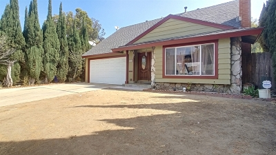 San Diego Single Family Home For Sale: 5452 New Mills Road