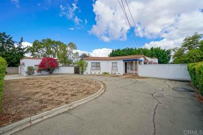 San Diego Single Family Home For Sale: 5135 67th St