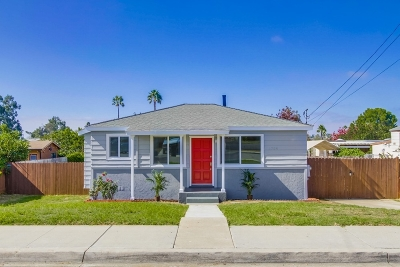 San Diego CA Single Family Home For Sale: $529,000
