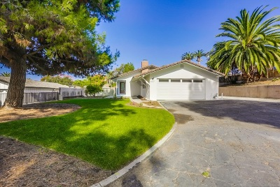 Vista Single Family Home For Sale: 637 Pine Tree Lane