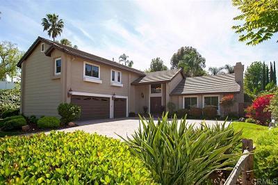 Escondido Single Family Home For Sale: 3347 Avenida Sierra