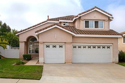 San Marcos Single Family Home For Sale: 1183 Avenida Azul
