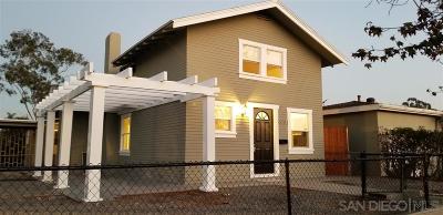 San Diego Single Family Home Sold: 3341 Marlborough Ave