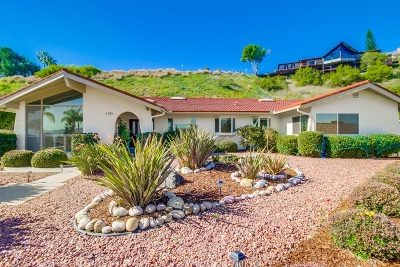 el cajon Single Family Home For Sale: 1781 Shady Crest Place