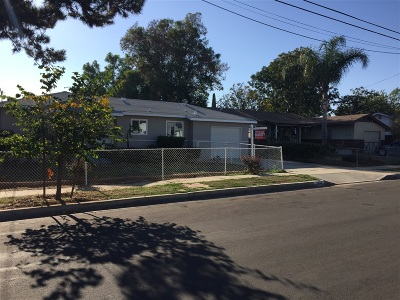 Escondido Single Family Home For Sale: 1023 Fern St