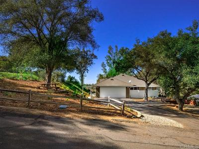 Fallbrook Single Family Home For Sale: 1055 Overbrook Ln