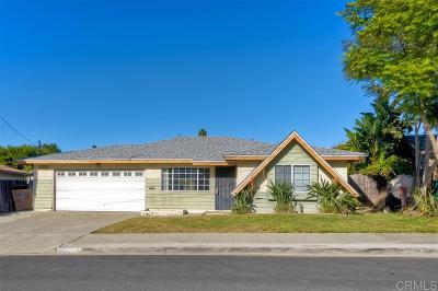 Oceanside Single Family Home For Sale: 2206 El Monte Dr.