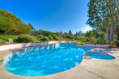 Escondido Single Family Home For Sale: 3654 Ryan Dr