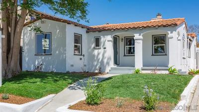 Talmadge, Talmadge/College Area Single Family Home For Sale: 4607 Constance Dr