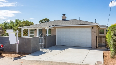 San Diego Single Family Home For Sale: 2730 Nutmeg Place