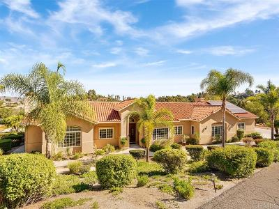 San Diego County Single Family Home For Sale: 951 River Oaks Lane