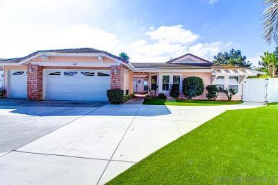 Oceanside Single Family Home For Sale: 3429 Ashwood Ct