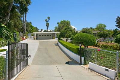 Escondido Single Family Home For Sale: 2626 Miller Ave