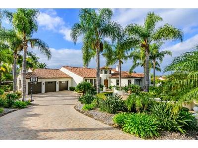 Rancho Santa Fe Single Family Home For Sale: 6129 Avenida Del Duque