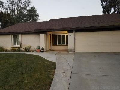 Oceanside Single Family Home Contingent: 3990 Brown St