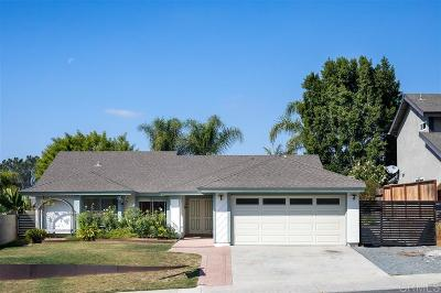 Oceanside Single Family Home For Sale: 3585 Hatfield Circle