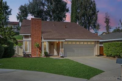 Escondido Single Family Home For Sale: 280 Boleroridge Place