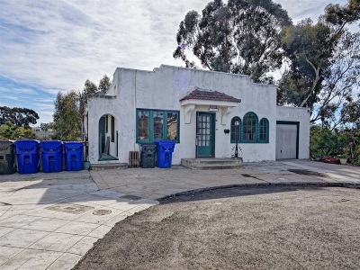 Mission Hills, Mission Hills/Hillcrest, Mission Valley Single Family Home For Sale: 3825 Eagle St