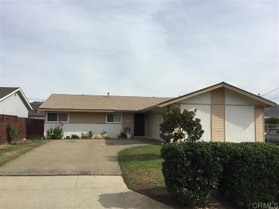 San Marcos Single Family Home For Sale: 1333 Rowena Avenue