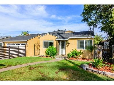 La Mesa Single Family Home For Sale: 7586 Saranac