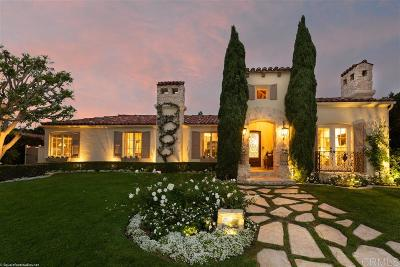 La Jolla CA Single Family Home For Sale: $6,200,000