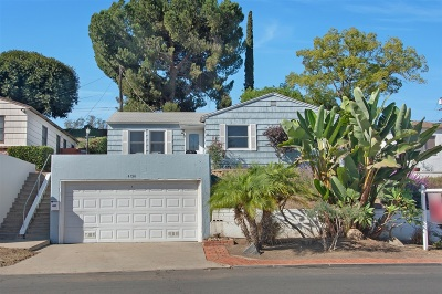 La Mesa Single Family Home For Sale: 4156 Lois St