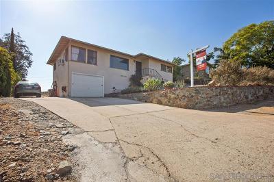 La Mesa Single Family Home For Sale: 8555 Rockledge Rd