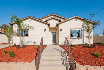Chula Vista Single Family Home For Sale: 1191 Myra