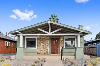 San Diego Single Family Home For Sale: 3637 Louisiana Street