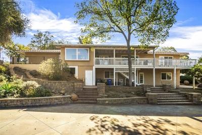 Escondido Single Family Home For Sale: 1019 Vereda Collada