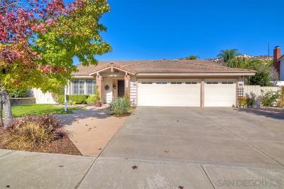 Poway Single Family Home For Sale: 14853 Oakline Road