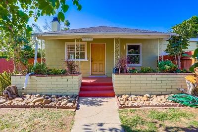 San Diego Single Family Home For Sale: 4602 Felton Street