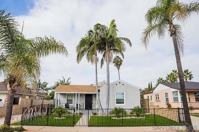 San Diego Single Family Home For Sale: 4720 Constance Dr