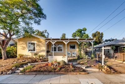 North Park, University Heights Single Family Home For Sale: 1012 Johnson Ave