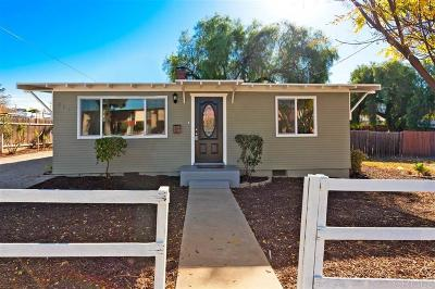 El Cajon Single Family Home For Sale: 445 W Washington Ave